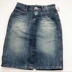 Denim Skirt Bubble Gum NWT Size 0